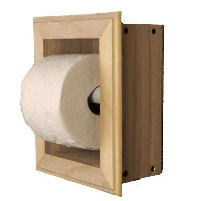 Newton Recessed Toilet Paper Holder 21 Holder in Unfinished Wall Hugger Frame