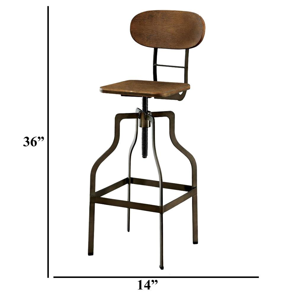 Miraculous Benzara Industrial Style Brown Wooden Swivel Bar Stool With Andrewgaddart Wooden Chair Designs For Living Room Andrewgaddartcom