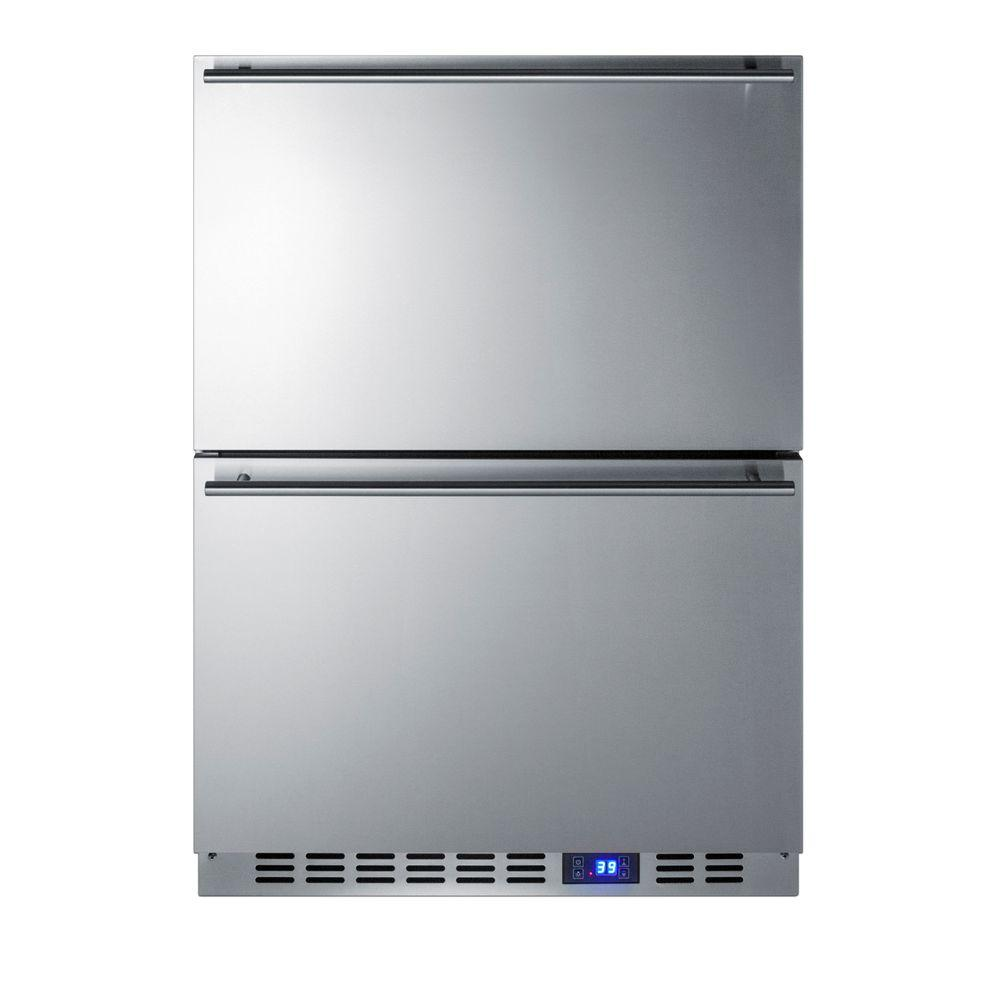 Summit Appliance 24 in. 3.4 cu. ft. Outdoor Refrigerator Drawer in Stainless Steel