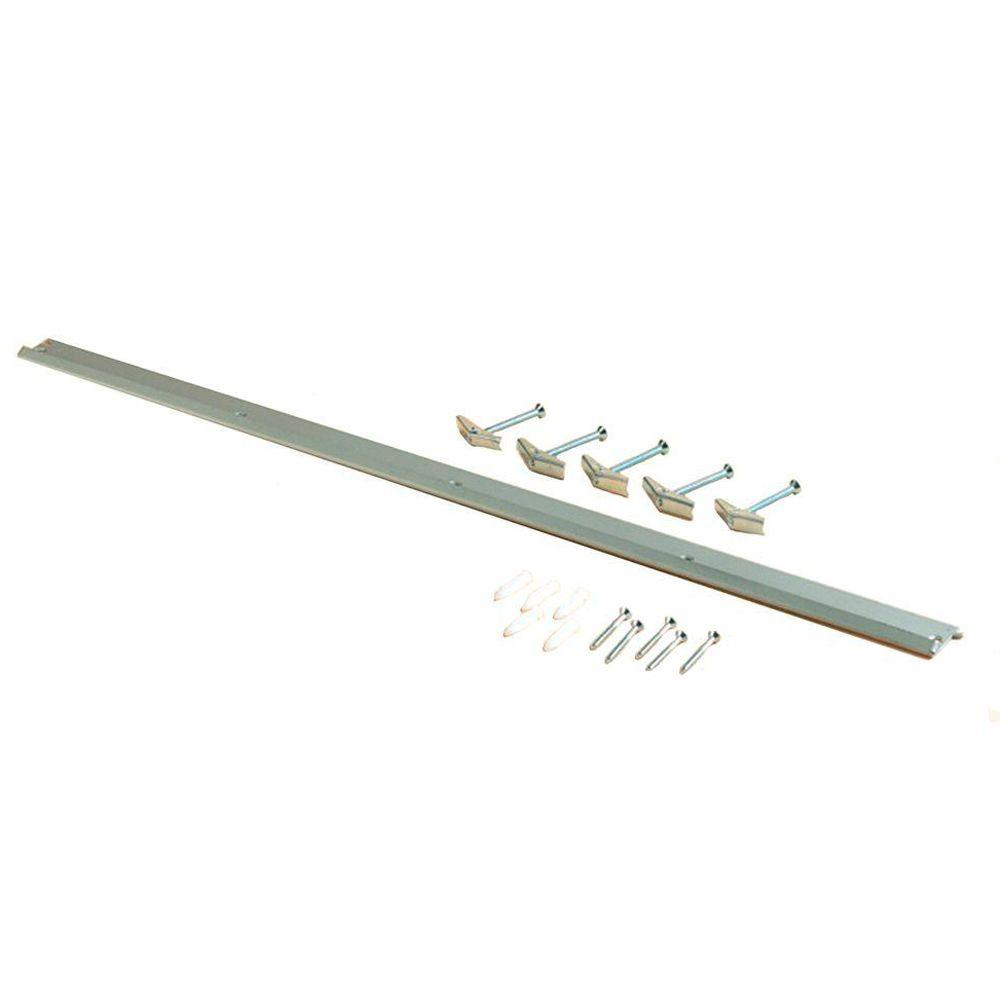 Triton Products Storability 33 in. L x 1-3/4 in. H Gray Epoxy Coated Steel Top Track Storage System Wall Frame Plus Mounting Hardware
