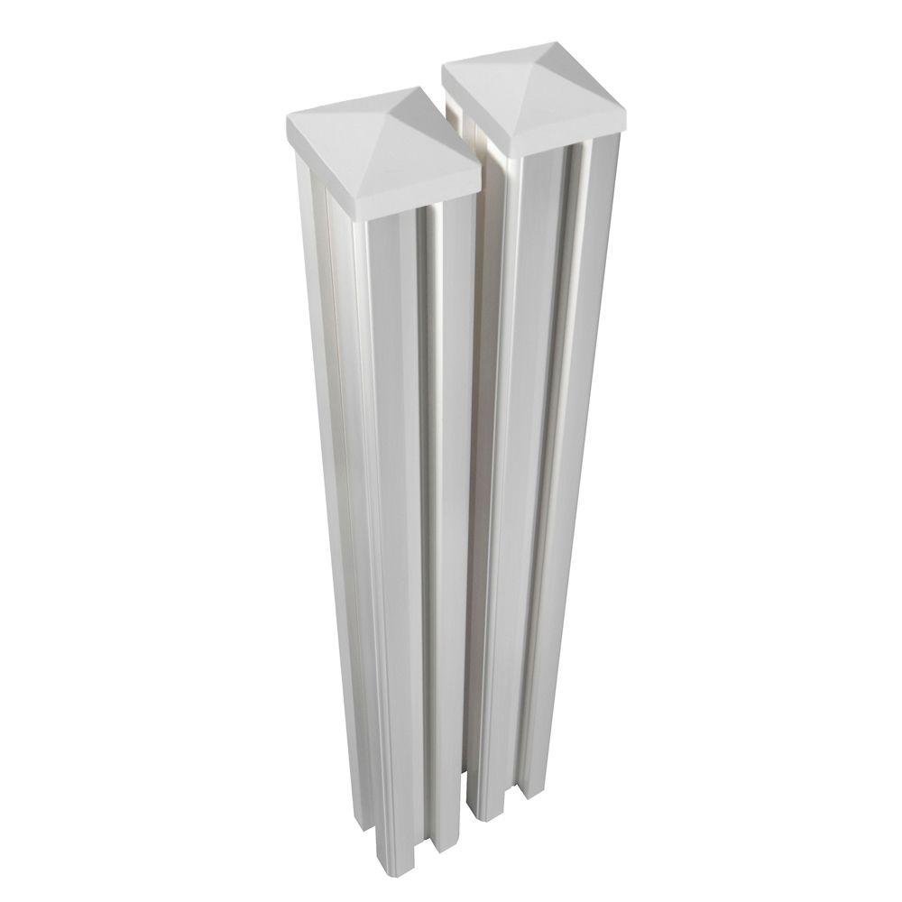 WamBam Fence 6 ft. H x 4.5 in. W x 4.5in D Premium Vinyl Posts with Caps (2-Pack)