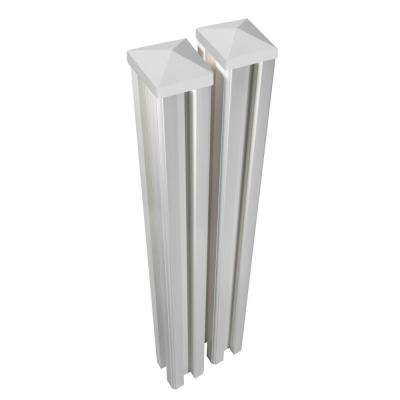 6 ft. H x 4.5 in. W x 4.5in D Premium Vinyl Posts with Caps (2-Pack)