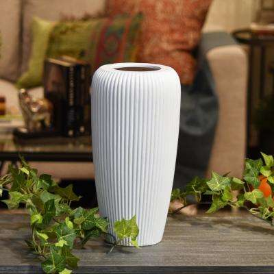 White Matte Ceramic Decorative Vase