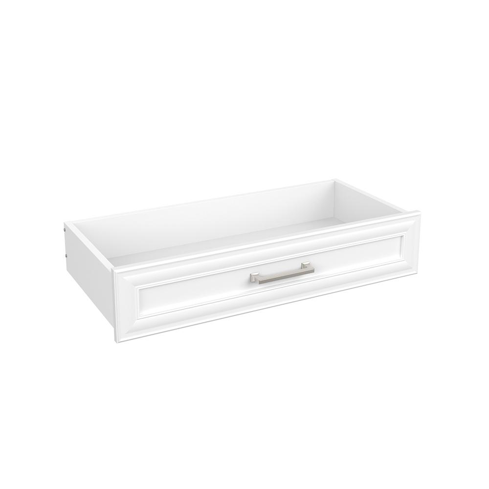 Easentials 6 in. H x 30 in. W White Melamine Traditional