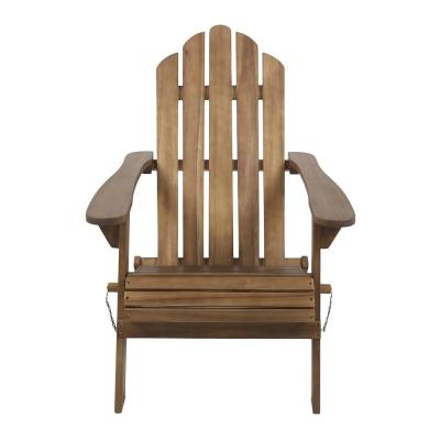 Hollywood Dark Brown Folding Wood Adirondack Chair