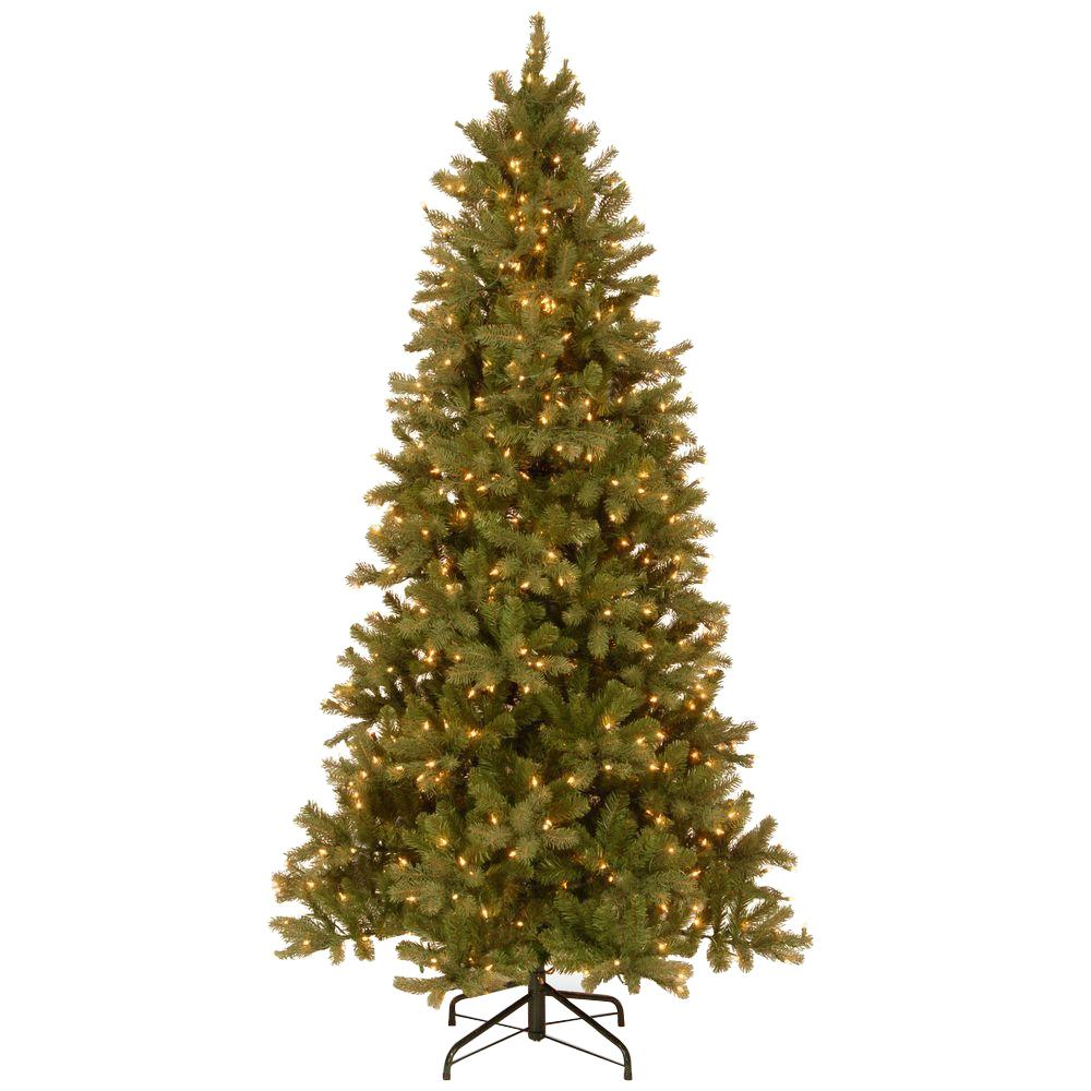 National Tree Company 7-1/2 ft. Feel Real Downswept Douglas Slim ...