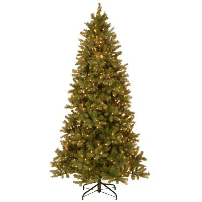 7-1/2 ft. Feel Real Downswept Douglas Slim Fir Hinged Artificial Christmas Tree with 600 Clear Lights