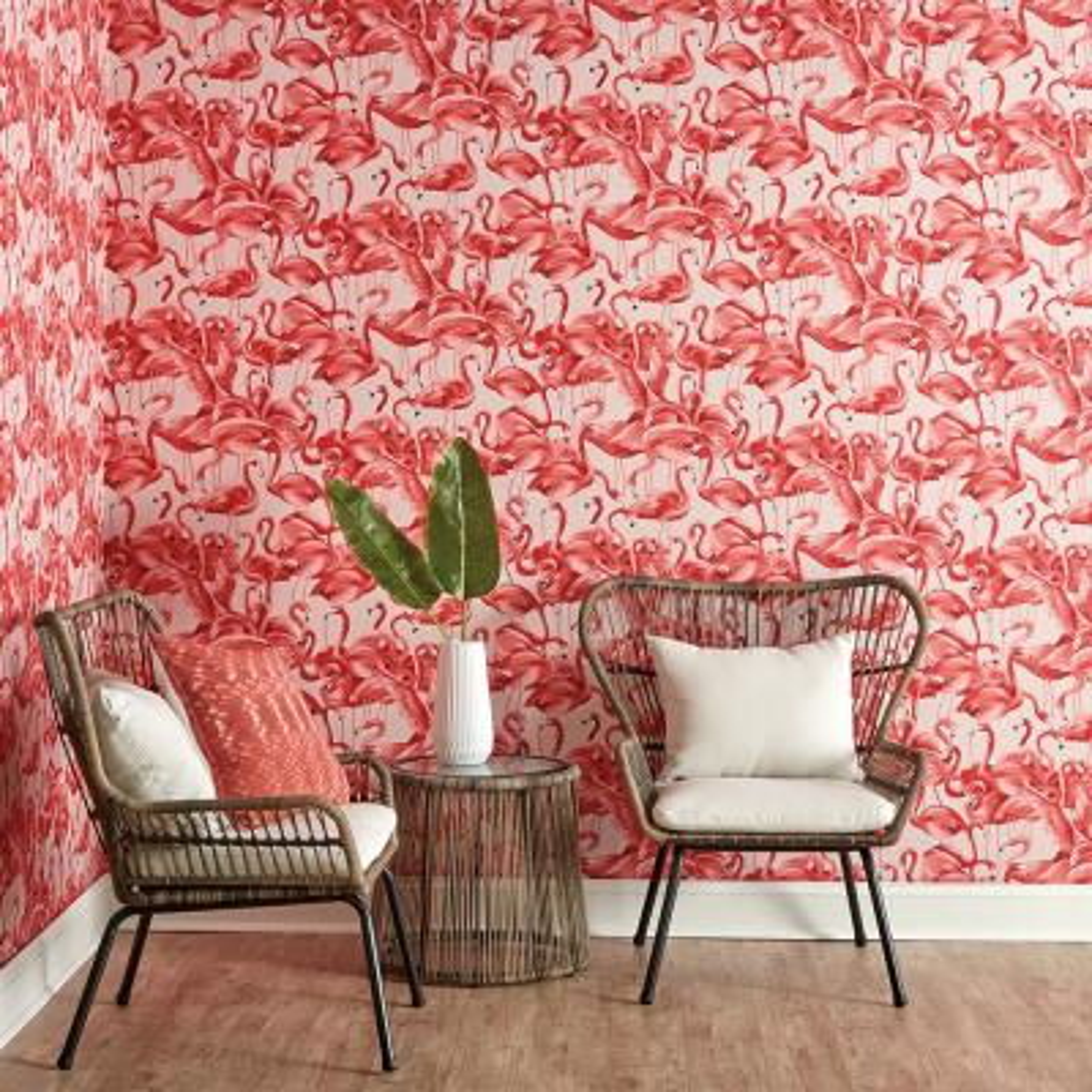 Flamingo Cheeky Pink Self-Adhesive, Removable Wallpaper