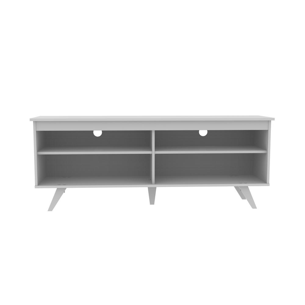 Walker Edison Furniture Company 58 In. Wood Simple Contemporary Console    White