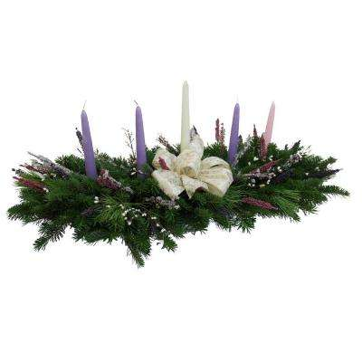Balsam 5 Candle Christmas Grace Advent Centerpiece : Multiple Ship Weeks Available