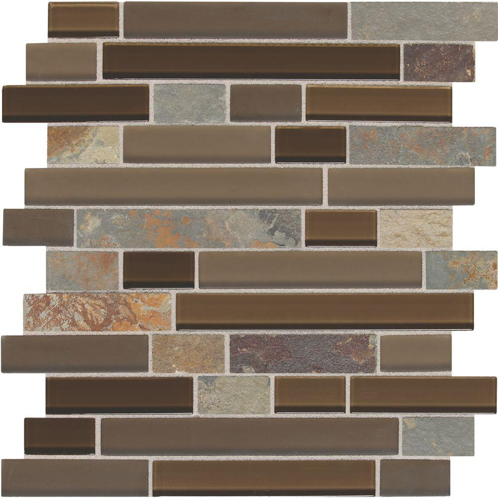 Slate Radiance Saddle 11-3/4 in. x 11-3/4 in. x 8 mm