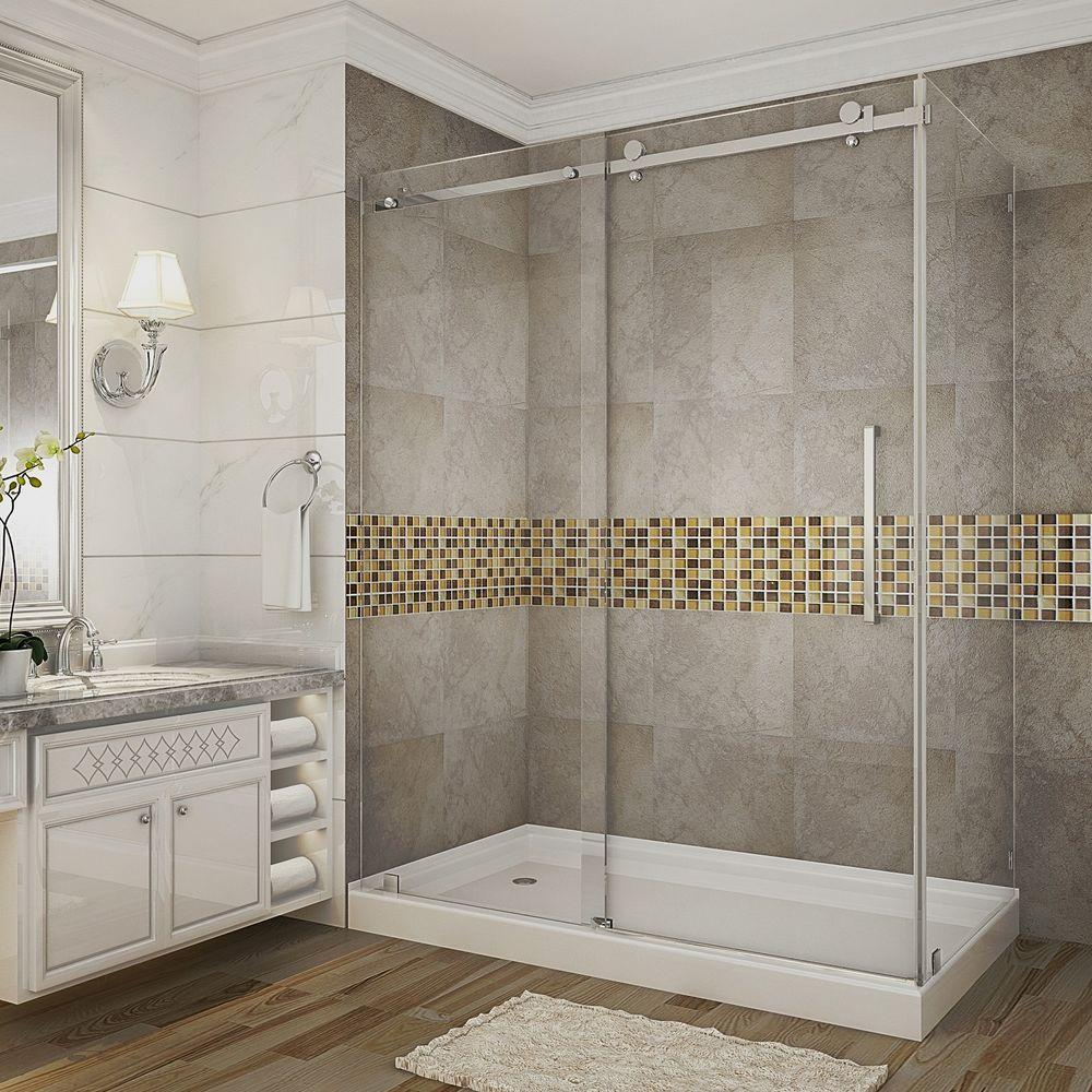Aston Moselle 60 in. x 35 in. x 77.5 in. Completely Frameless ...