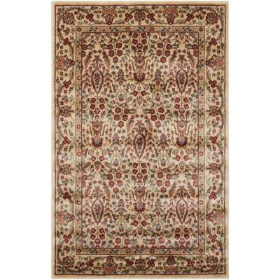 Persian Arts Ivory 8 ft. x 11 ft. Area Rug
