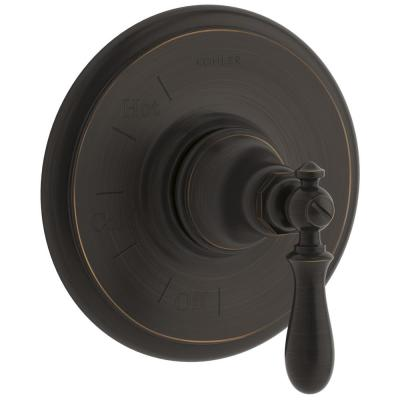 Artifacts 1-Handle Wall-Mount Tub and Shower Faucet Trim Kit in Oil-Rubbed Bronze (Valve Not Included)
