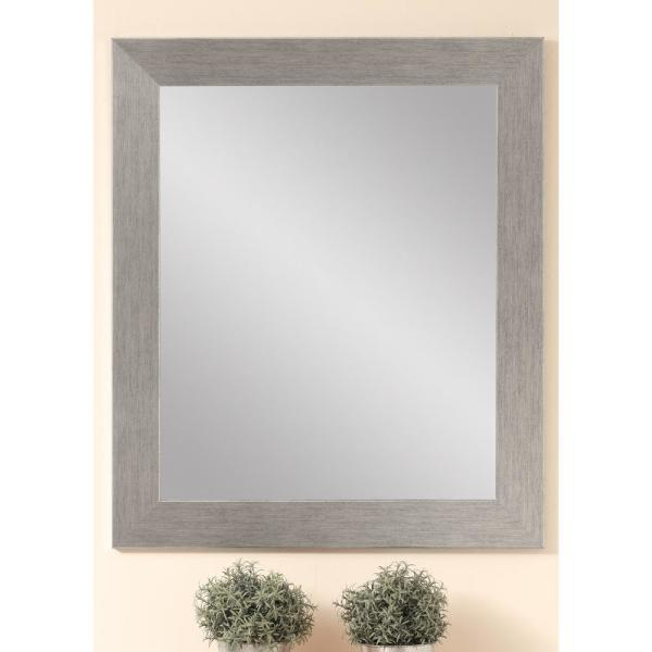 Large Rectangle Gray Hooks Modern Mirror (55 in. H x 32 in. W)