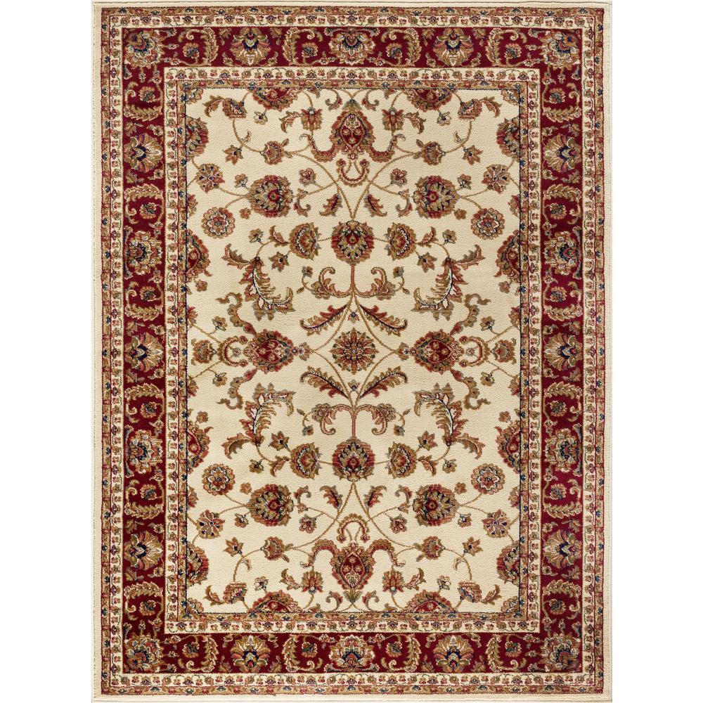 Tayse Rugs Sensation Beige 5 ft. 3 in. x 7 ft. 3 in. Transitional Area Rug