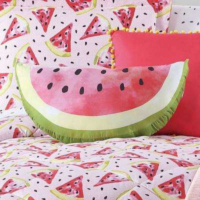 Kids Fruity Printed Watermelon Pillow