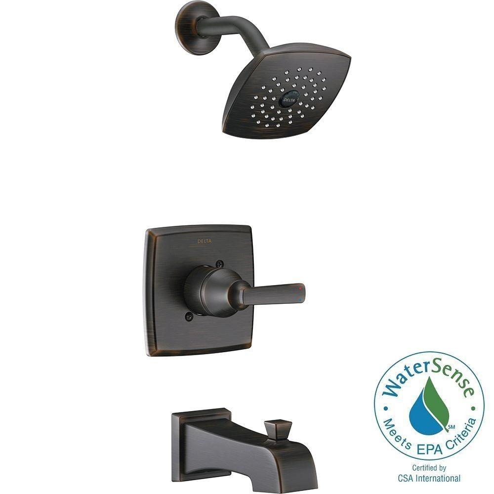 Delta Ashlyn 1 Handle Pressure Balance Tub And Shower Faucet Trim Kit In Venetian Bronze