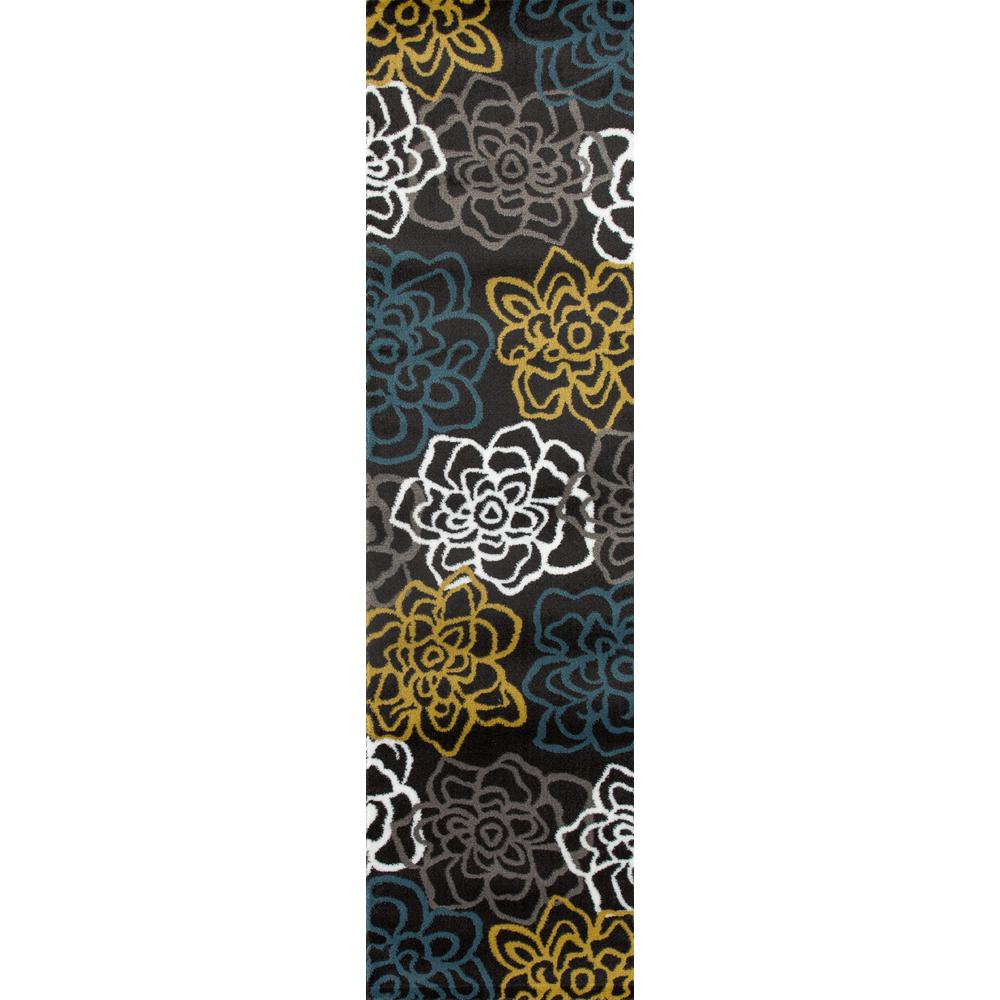 World Rug Gallery Florida Turquoise Area Rug Reviews: World Rug Gallery Contemporary Floral 2 Ft. X 7 Ft. 2 In