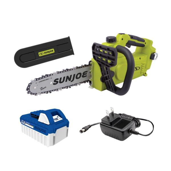 24-Volt iON+  10 in. Cordless Chain Saw Kit with 4.0 Ah Battery and Charger
