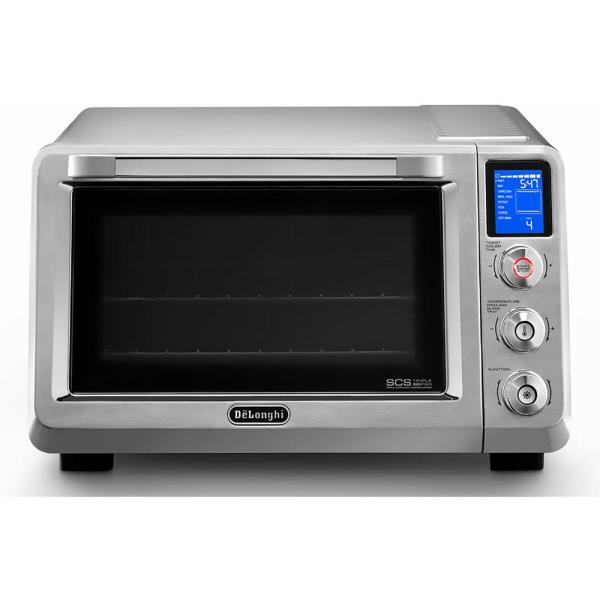 DeLonghi Livenza 2000 W 2-Slice Stainless Steel Convection Toaster Oven with