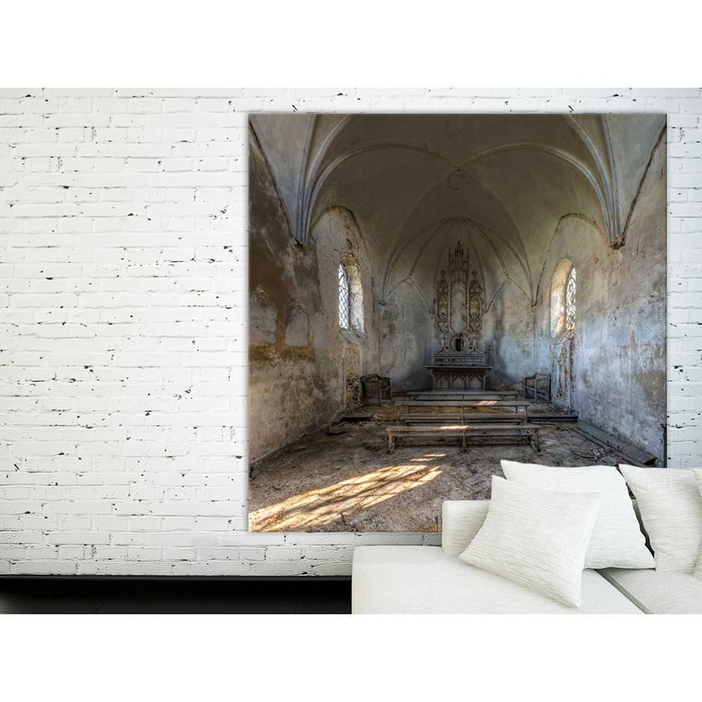 "54 in. x 54 in. ""Cahapel de la Meuse"" by Ivo Sneeuw Printed Framed Canvas Wall Art"