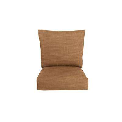 Highland Replacement Outdoor Motion Lounge Chair Cushion in Toffee