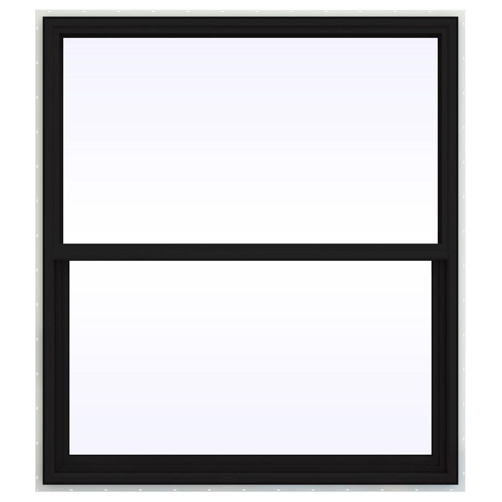 JELD-WEN 47.5 in. x 59.5 in. V-4500 Series Single Hung Vinyl Window - Black