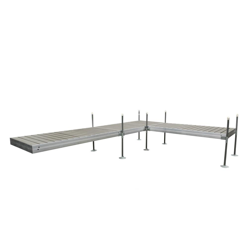 Tommy Docks 16 ft. L-Style Aluminum Frame with Decking Complete Dock Package