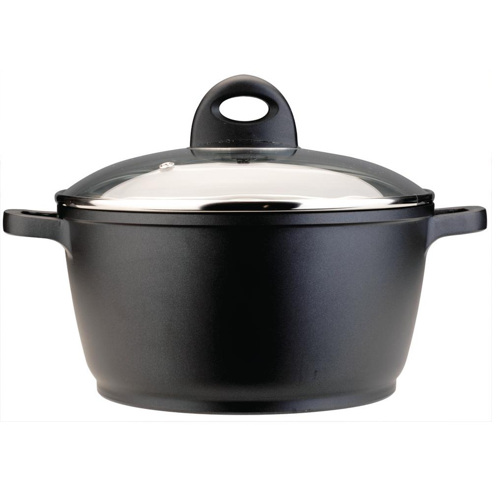 CooknCo 6.3 Qt. Cast Aluminum Stock Pot with Lid