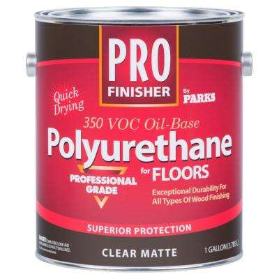 1 gal. Clear Matte 350 VOC Oil-Based Interior Polyurethane (Case of 4)