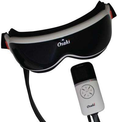 Vibration and Air Compression Eye Massager with Music Capability in Black
