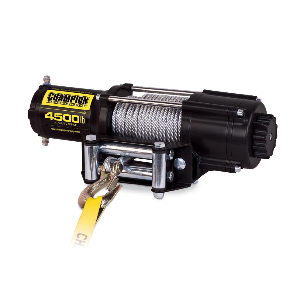 Champion Power Equipment Power Equipment 4500 lb. ATV/UTV Wireless Winch Kit by Champion Power Equipment
