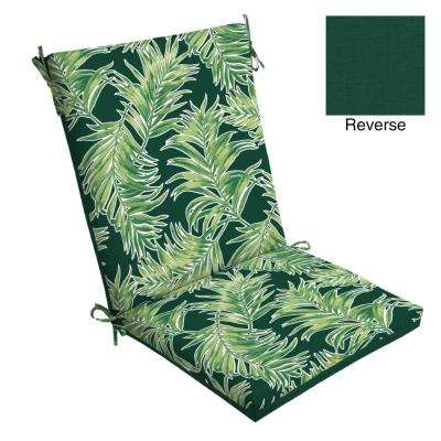 20 x 20 Emerald Quintana Tropical Outdoor Dining Chair Cushion
