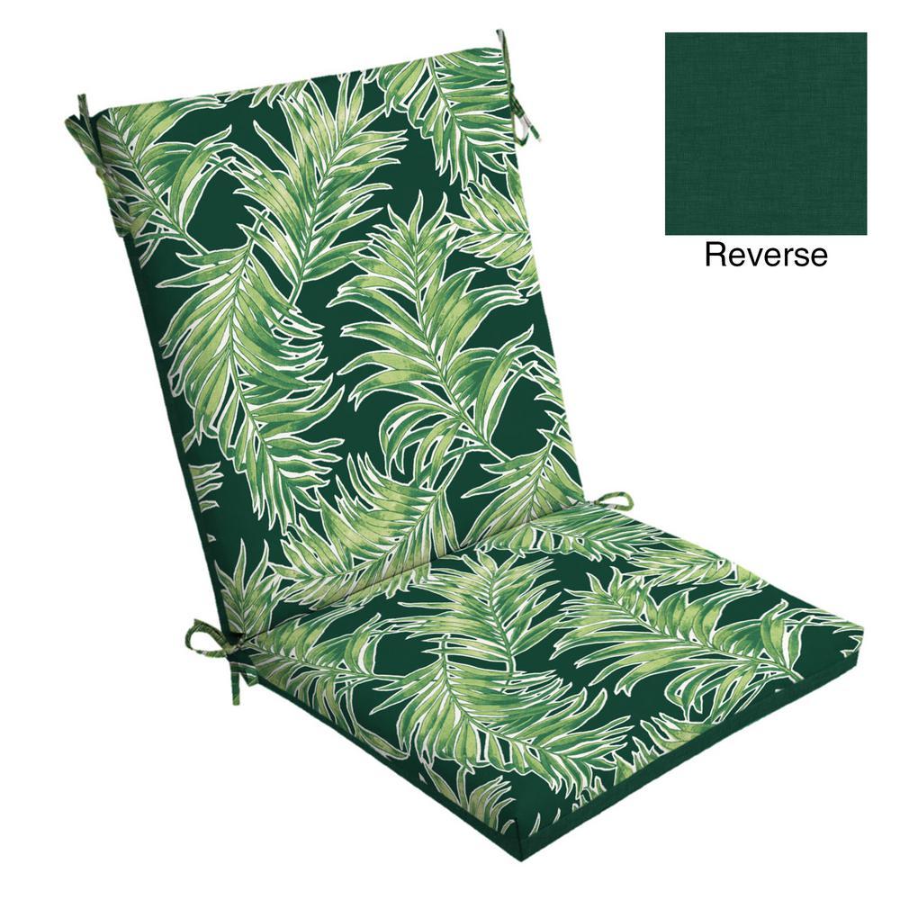 Incroyable Emerald Quintana Tropical Outdoor Dining Chair Cushion