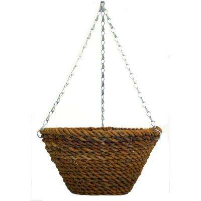12 in. Rope Bucket Planter with Chain