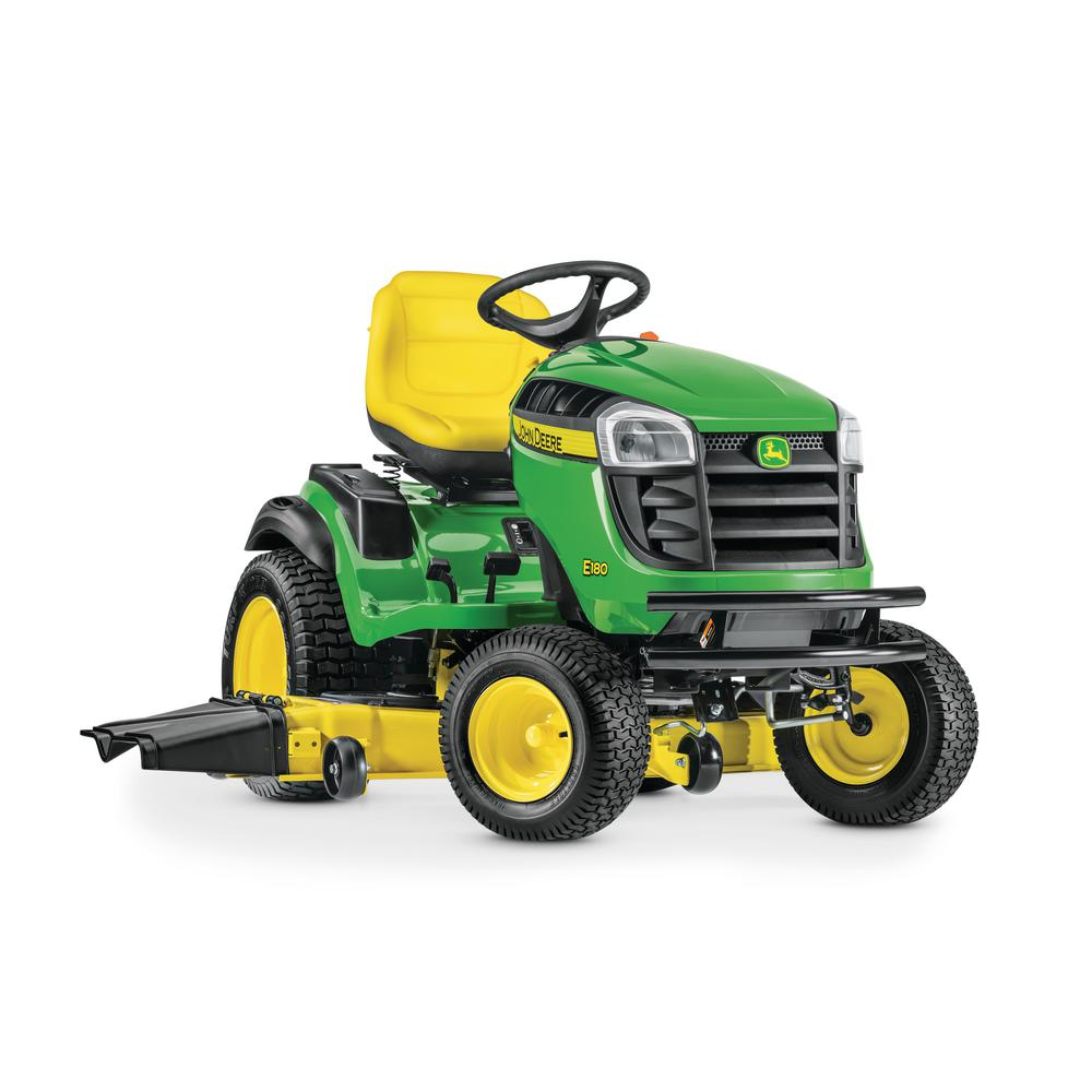 john deere e180 54 in 25 hp v twin els gas hydrostatic lawn tractor