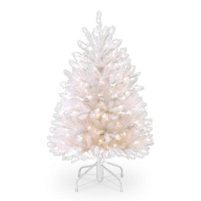 4.5 ft. Dunhill White Fir Tree with Clear Lights