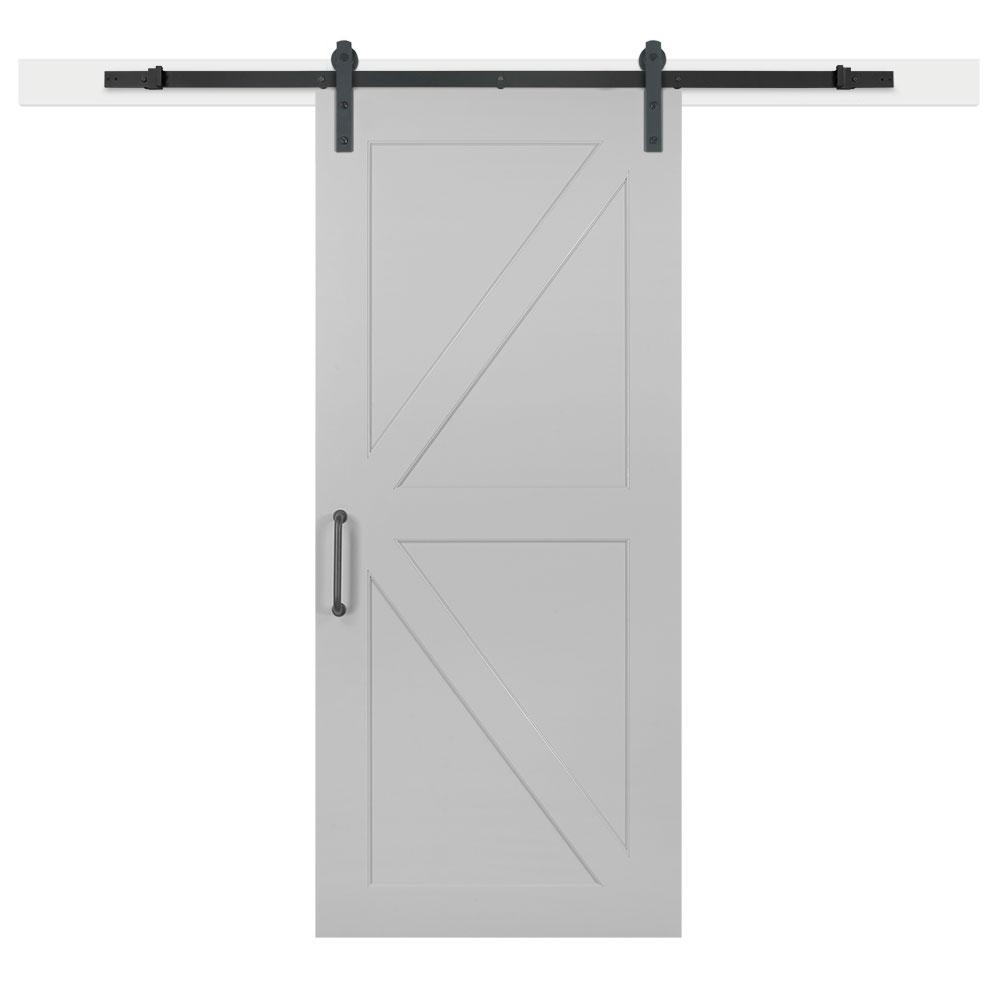 Jeff Lewis 36 In X 84 In Gray Geese Composite K Bar Solid Core Mdf