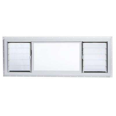 63 in. x 22.5 in. Jalousie/Picture Awning Vinyl Window in White