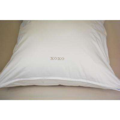 Breakfast in Bed Down Alternative Front Sleeper Pillow with XOXO