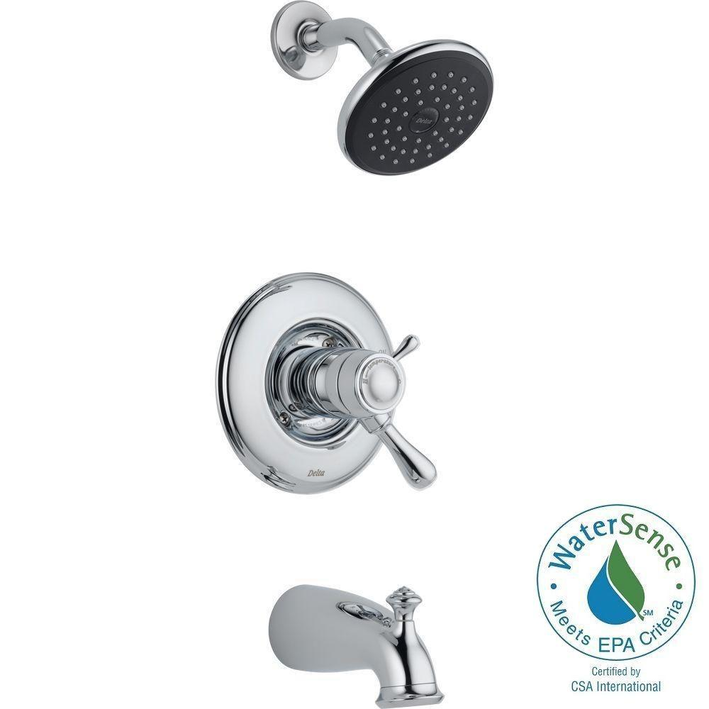 Delta Leland TempAssure 17T Series 1-Handle Tub and Shower Faucet ...