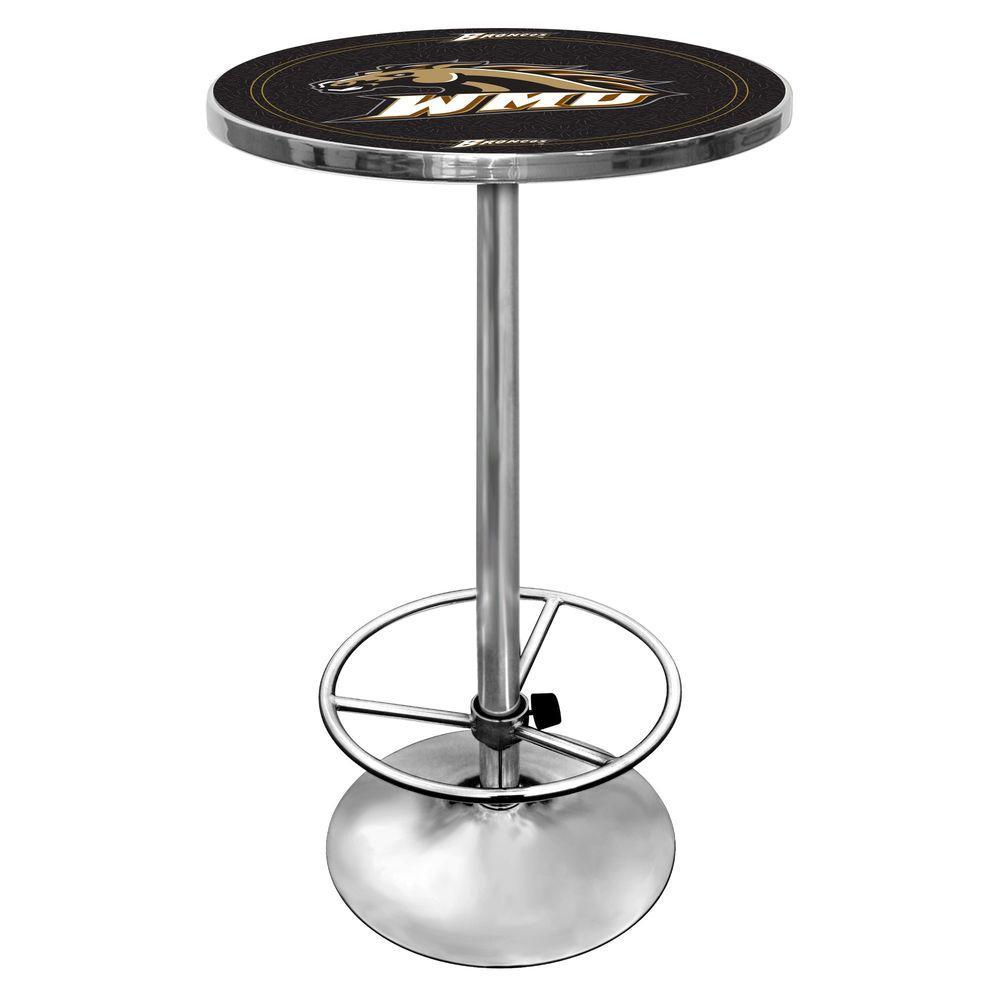 Trademark Western Michigan University Chrome Pub/Bar Table
