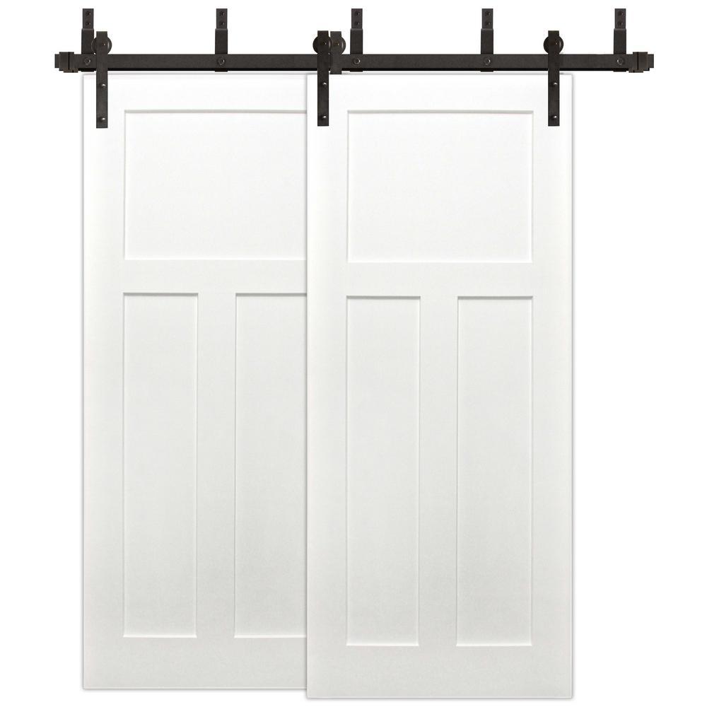 3 Panel Barn Doors Interior Amp Closet Doors The Home