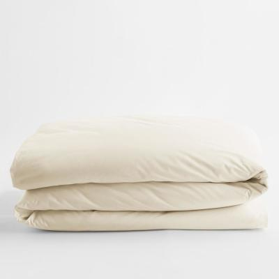 Classic Ivory Solid Cotton Percale King Duvet Cover