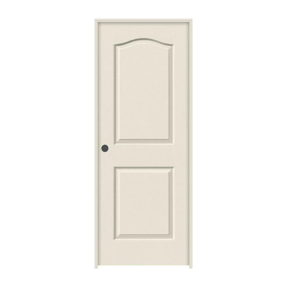 JELD-WEN 30 in. x 80 in. Princeton Primed Right-Hand Smooth Molded Composite MDF Single Prehung Interior Door