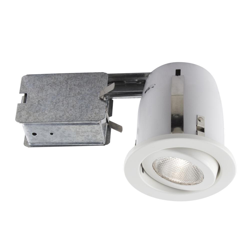 500 Series 4 in. White Recessed Halogen Lighting Kit
