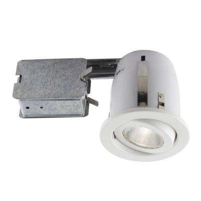 500 Series 4 in. White Recessed Halogen Lighting Kit