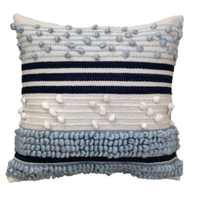 Knotted Stripe Midnight Outdoor Square Throw Pillow (2-Pack)