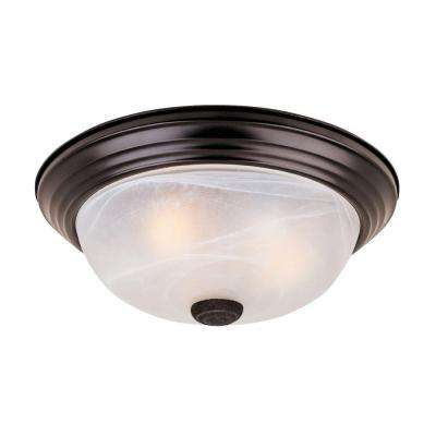 Reedley Collection 2 Light Flush Ceiling Oil Rubbed Bronze Fixture